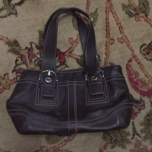 Coach purse, brown leather